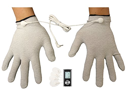 Tens Unit 6 Modes Rechargeable Electrotherapy Massager   Arthritic Massaging Therapy Gloves   Provide Carpal Tunnel Pain Relief Therapy   Great Hand Massager Glove For Joint Pain Treatment On The Wrist  Silver  Lifetime Warranty Fda Cleared Otc Healthmateforever Hm6gl