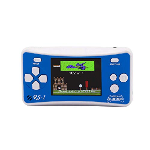 E-MODS GAMING Portable Retro Games Player, Handheld Console Built-in 162 Games for Kids - Blue