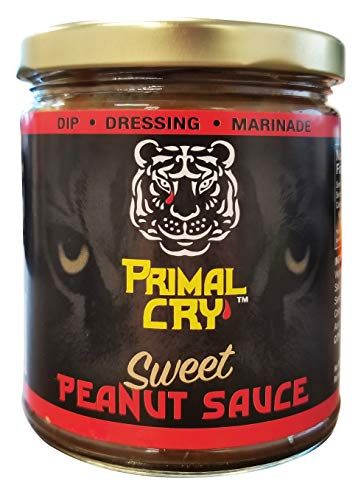 Tasty Thai Primal Cry Thai Sweet Peanut Sauce, 9.0 Ounce | Authentic, Traditional Sweet Thai Satay Sauce, Dipping, Marinade, and Dressing Blend