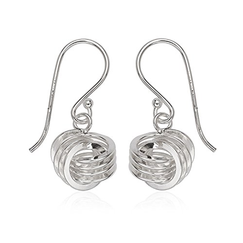 Sterling Silver Love Knot Dangling Earrings