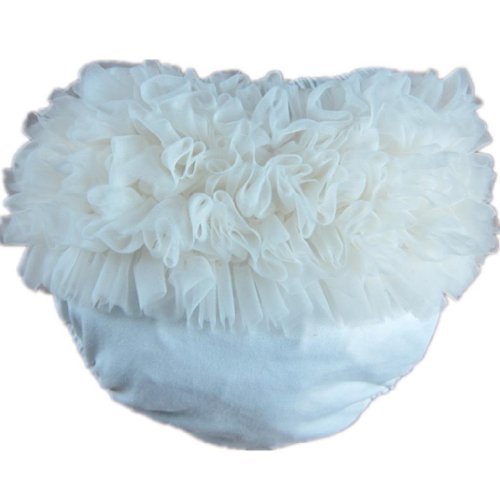 Ivory Ruffle (Buenos Ninos Baby Girl's Cotton Shorts and Briefs Chiffon Ruffle)
