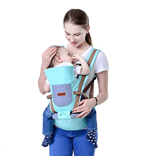 Kimitech Hipseat Baby Carrier Backpack 6 in 1 Carry Ways Carrier Sling (SKY BLUE) from Kimitech