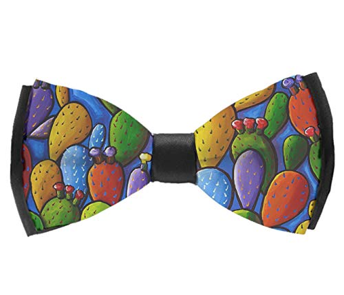 AIMVOGUE Classic Mens California Prickly Pear Cactus Pre-Tied Bowtie Silk Bow Ties for Men Gifts ()