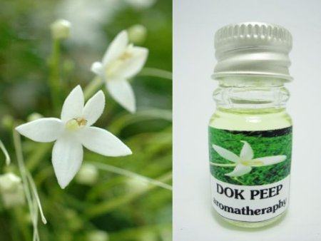 Bread Flower (Chommanad) Scent (1 Piece) and Dok Peep Cork Tree Pure Oil Aroma Scent (1 Piece) Thai Spa Aroma Pure Essential / Fragrance Oil for Spa Bath, Candle Lamp Burner, 5ml