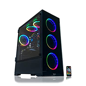 Image of Towers Gaming PC Desktop Computer Intel i7-3770 3.40GHz, 16GB RAM, 120GB SSD, 2TB HDD, WiFi, GTX 1060 3GB, VR Ready, Ethernet and WiFi, 6 RGB Fans with Remote, for Serous High End Gaming