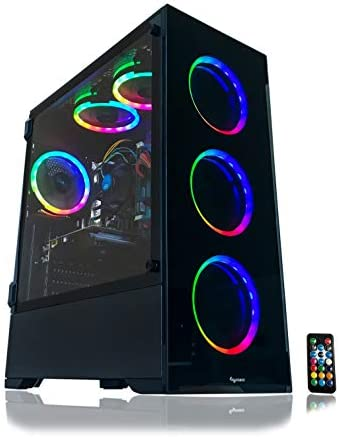 Alarco Gaming PC Desktop Computer Intel i5 3.10GHz,8GB Ram,1TB Hard Drive,Windows 10 professional,WiFi Ready,Video Card Nvidia GTX 650 1GB, 6 RGB Fans with Remote