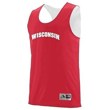 5c254b147 Youth Medium Blank Back Wisconsin Badgers Reversible Basketball Jersey