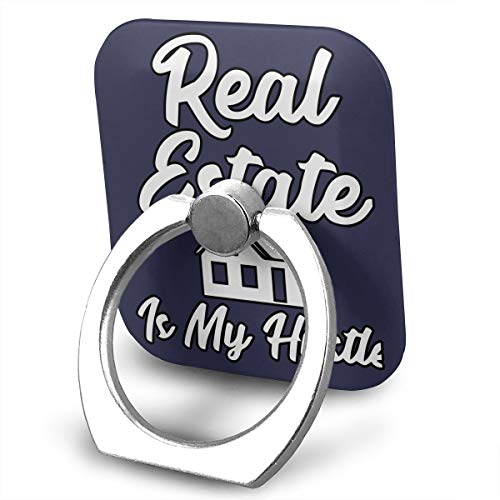 - FISHISOK Real Estate is My Hustle Funny Realtor Cell Phone Ring Holder, 360 Degrees Rotation, Finger Grip Stand Holder,Compatible with iPhone,Samsung,Phone Case,etc