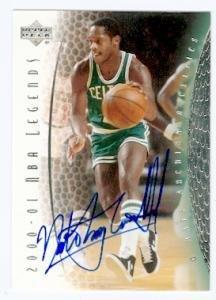 Nate Archibald Autographed Photo - card 2000 2001 Upper Deck Legends #64 - Basketball Autographed Cards - 2000 2001 Upper Deck