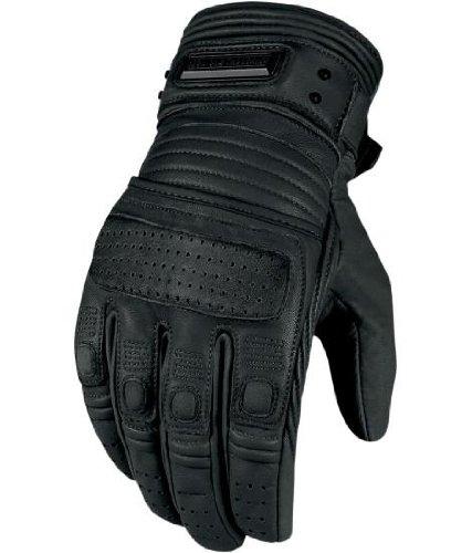 2013 Icon One Thousand Motorcycle Gloves - Beltway - Black - Medium