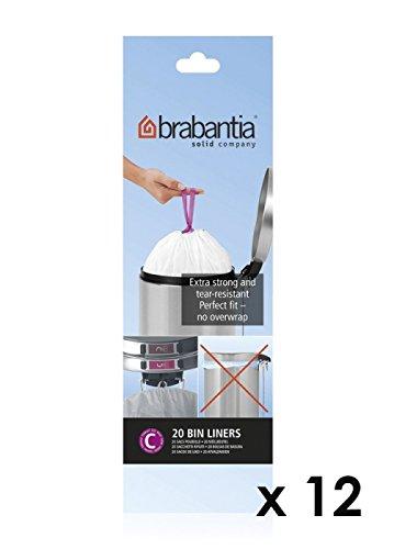 BRABANTIA - LOT DE 11 ROULEAUX DE 20 SACS POUBELLE C 12 LITRES + 1 OFFERT 245343