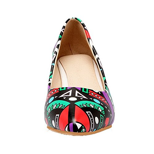 Kitten WeenFashion Microfiber Purple Pumps Toe Heels Pointed Shoes Women's qcFOFrSt