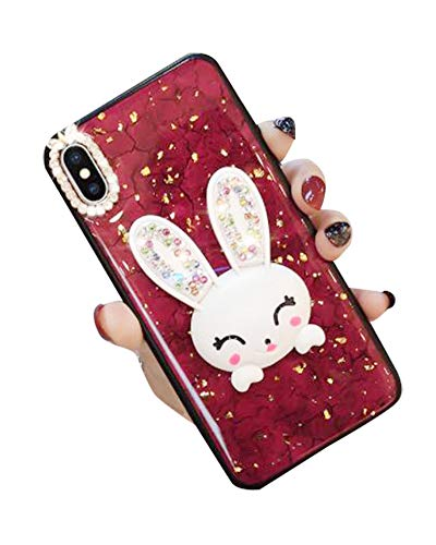 Why Choose Case for iPhone Xs Max 6.5 Inch,Aulzaju iPhone Xs Max Bling Cute Rabbit Ring Stand Case H...
