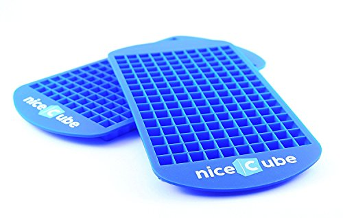 Mini Ice Cube Trays - 2 Ice Tray Set - 160 Small Cube Silicone Molds, BPA-Free, Mini Cubes Will Chill Your Drink Faster