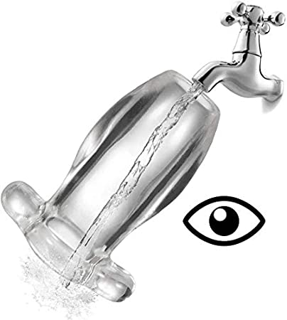 ZT-sm 2 Piezas De Silicona Transparente Anal/Vaginal Culo Túnel ...