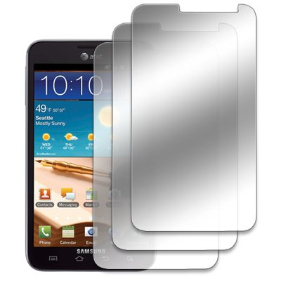 EMPIRE Samsung Galaxy Note I717 3 Pack of Mirror Screen Protectors [EMPIRE Packaging] by EMPIRE