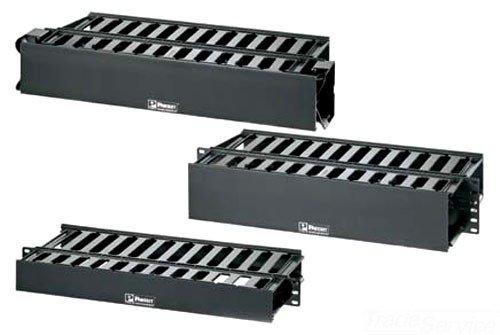 Panduit WMPFSE-KIT Horizontal Cable Management Cover Kit, Black