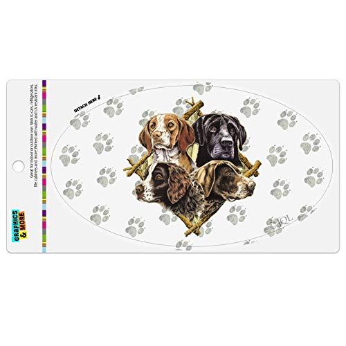 Graphics and More Dog Diamond Hunting Breeds Automotive Car Refrigerator Locker Vinyl Euro Oval Magnet ()