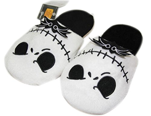 Nightmare Before Christmas Jack Skellington Soft Warm Slippers Plush Slippers (Adult Christmas)