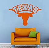 Wall Vinyl Decal Texas Longhorns Ncaaf College Football Sport Interior Vinyl Decor Sticker Home Art Print TT9714