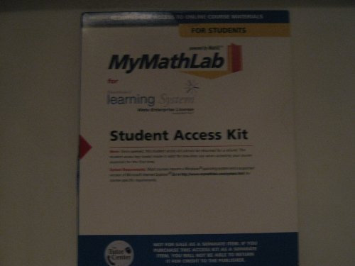 Mymathlab for Webct Access Code Card