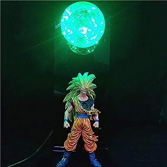 Figuras de acción Dragon Ball Z Lámpara DIY Modelo de anime Dormitorio Luz de noche Baby Dolls LED para niños Lámpara de mesa Juguetes para niños Luces. C: Amazon.es: Iluminación