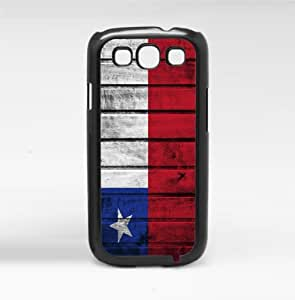 Chile Flag Red White and Blue Wood Grunge Hard Snap on Phone Case Cover Samsung Galaxy S3 I9300