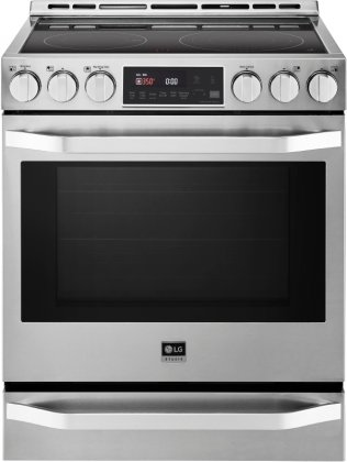 LG Studio LSSE3026ST Slide-in Electric Range with Smoothtop Cooktop - 6.3 cu. ft. Primary Oven Capacity - in Stainless Steel