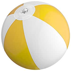 Mini pelota de playa/agua Ball/Color: Amarillo de color blanco ...