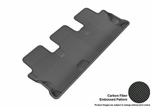 3D MAXpider Third Row Custom Fit All-Weather Floor Mat for Select Toyota Highlander Models - Kagu Rubber ()