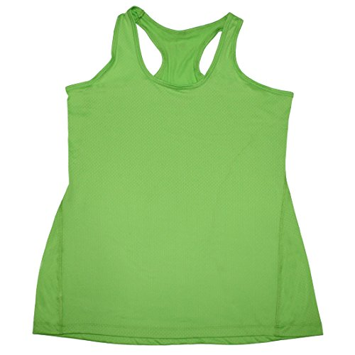bally-total-fitness-womens-lightweight-yoga-running-performance-tank-top-l-green