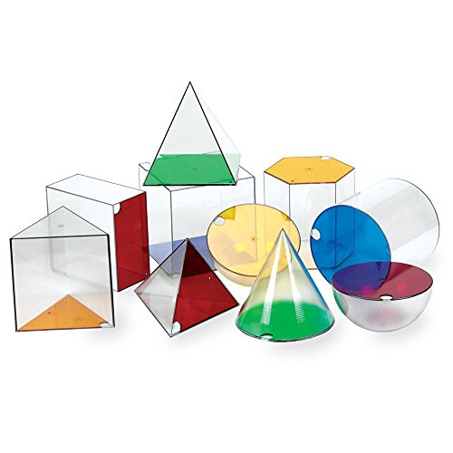 Learning Resources Giant GeoSolids, Large Plastic Shapes ()