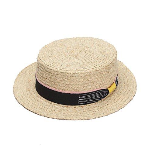 Men's Classic Straw Sun Hat summer in travel hat,Primary color (Blu Classic Cap)