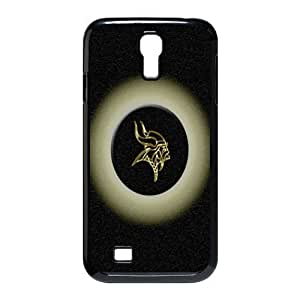 MINNESOTA VIKINGS NFL Classic Design Print Black Case With Hard Shell Cover for SamSung Galaxy S4 I9500