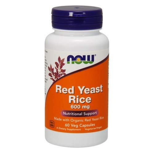 Red Yeast Rice Extract, 600 mg, 60 Vcaps by Now Foods (Pack of 8)