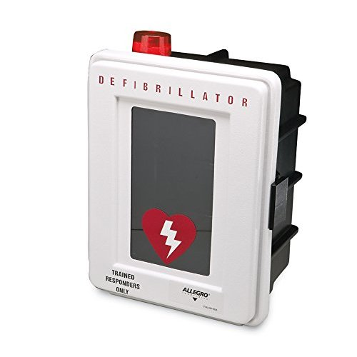 Allegro Industries 4400‐DS Plastic Defibrillator Wall Case with Alarm and Strobe 4400-DS