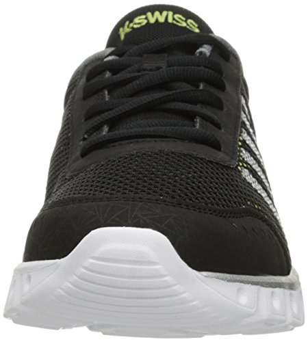 K-Swiss Performance X Lite Athletic Cmf - Zapatillas de deporte Hombre Negro - Black (Black/Chrcl/Yellow 093)