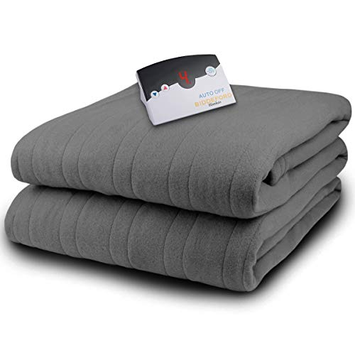 Biddeford 2031-905291-902 MicroPlush Electric Heated Blanket Full Grey