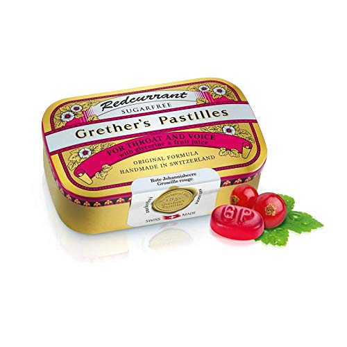 GRETHER'S PASTILLES RED Currant Sugar Free 110G/3.75OZ by GRETHER'S