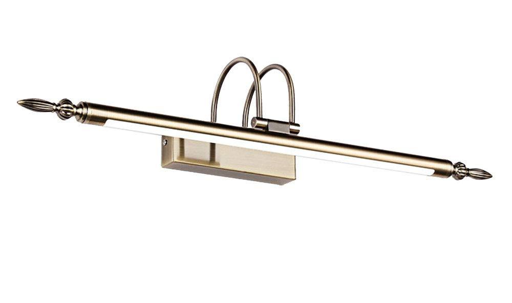 Köpfer Weißes Licht 66cm 12W T-TWJQ Spiegellichtlampe Badezimmerspiegelschranklampe wasserdichtes LED-Spiegellicht, kupfernes weißes Licht, 66cm12W