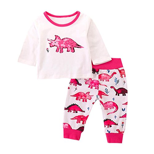 60abc32d5474 Lavany Baby Clothes Set Long Sleeve 2PC Baby Boy Girl Dinosaur Print ...