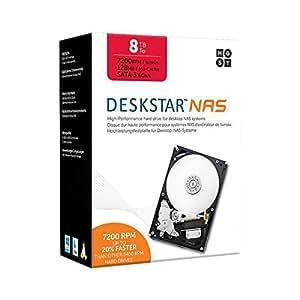 """HGST 8TB Deskstar 7200rpm 128MB Cache SATA III 3.5"""" Internal NAS Drive Kit"""