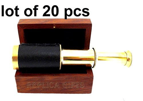 Arsh Nautical Nautical Vintage Maritime Brass 6'' Pirates Spyglass Telescope with Wooden Box E by Arsh Nautical (Image #4)