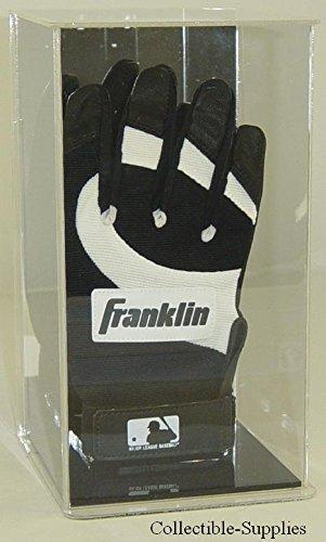 Batting Glove Case - Collectible Supplies Single Baseball Batting Glove WALL MOUNTABLE Display Case with Mirror