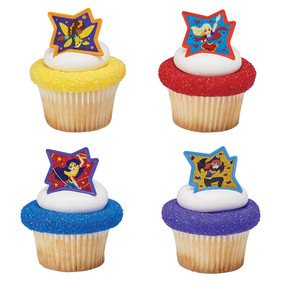 DC Super Hero Girls Just Be Awesome! Cupcake Rings 24 count Birthday Party Supplies by ONE STOP