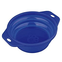 Trixie Travel Bowl, 1 L x 18 cm, Colours May Vary