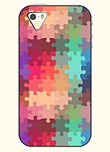 OOFIT Phone Case design with Colorful Puzzle for Apple iPhone 5 5s 5g