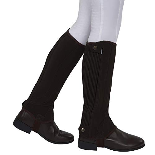 Dublin Adults Easy-care Premier Half Chaps (Adults Small) (Brown) ()
