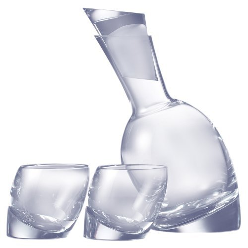 NambÃEÂ Tilt Decanter Set with 2 Double Old-Fashioned Glasses by NambÃEÂ