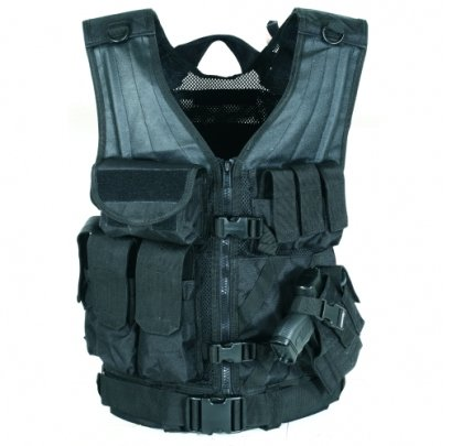 VooDoo Tactical 20-8112072330 MSP-06 Entry Assault Vest, Black Multicam, Large-XX-Large by VooDoo Tactical